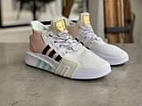 Женские высокие кроссовки Adidas EQT Bask Adv Адидас Ект Баск Белые, фото 9