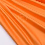 Лоскут сатина премиум оранжевого цвета, (№2791), размер 34*120 см, фото 2