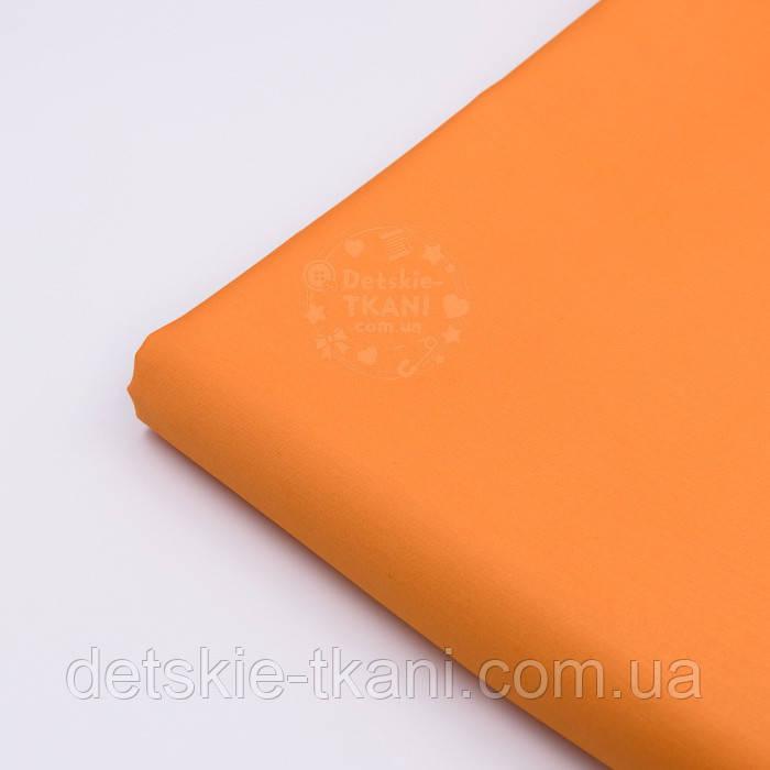 Лоскут сатина премиум оранжевого цвета, (№2791), размер 34*120 см