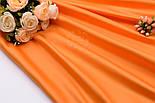 Лоскут сатина премиум оранжевого цвета, (№2791), размер 34*120 см, фото 3