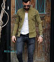 Болотна сорочка джинс на кнопках S, M, фото 1