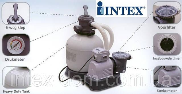 Песочный фильтрующий насос Intex 56674 киев