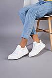 Кеды женские кожаные белые, фото 4