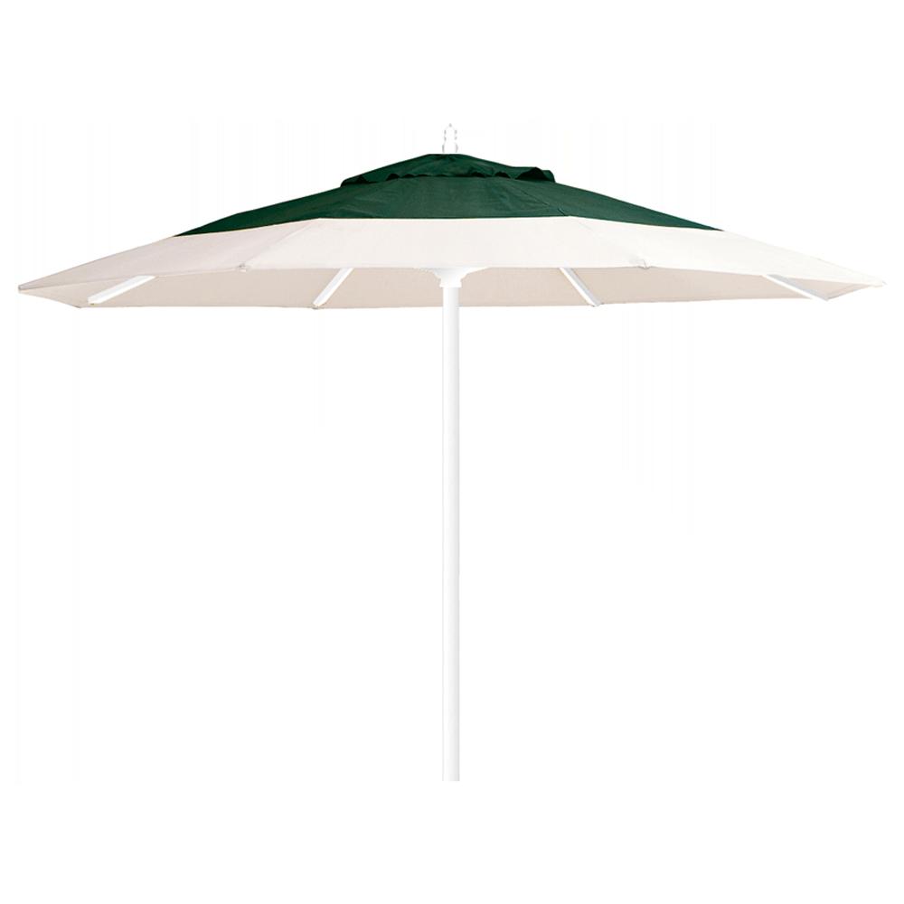 Зонт професійний Papatya Ø 3 м круглий бежевий з зеленим