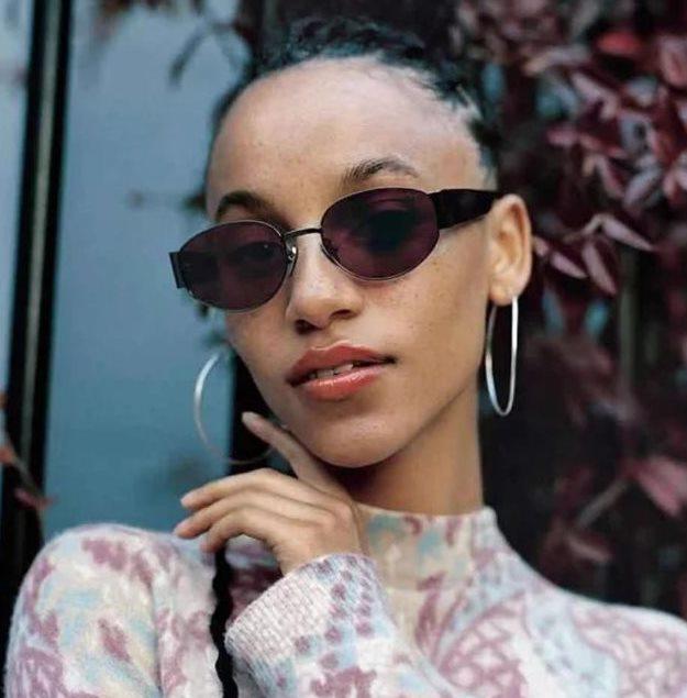 Жіночі овальні окуляри поляризовані 31464 черн