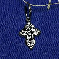 Маленький серебряный крестик Образ Христа 2062а