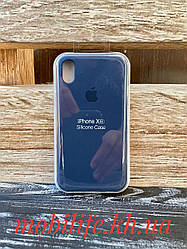Чехол Silicon Case Original Apple iPhone XR/Синий/Высокое Качество/