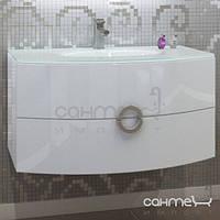 Мебель для ванных комнат и зеркала Marsan Тумба подвесная со стеклянной раковиной Marsan Beatrice розовый