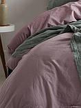 Комплект постільної білизни з вареного бавовни полуторний розмір Limasso natural violet standart, фото 2