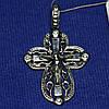 Серебряный крестик с камушками 400850 юм