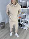 Спортивный костюм мужской бежевый сезон весна осень База от бренда Тур, размеры: XS,S,M, L, XL, фото 2