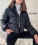 Куртка жіноча демісезонна з шкірозамінника, фото 3