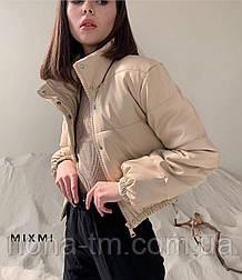 Куртка жіноча демісезонна з шкірозамінника