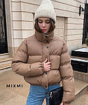 Куртка жіноча демісезонна з шкірозамінника, фото 5