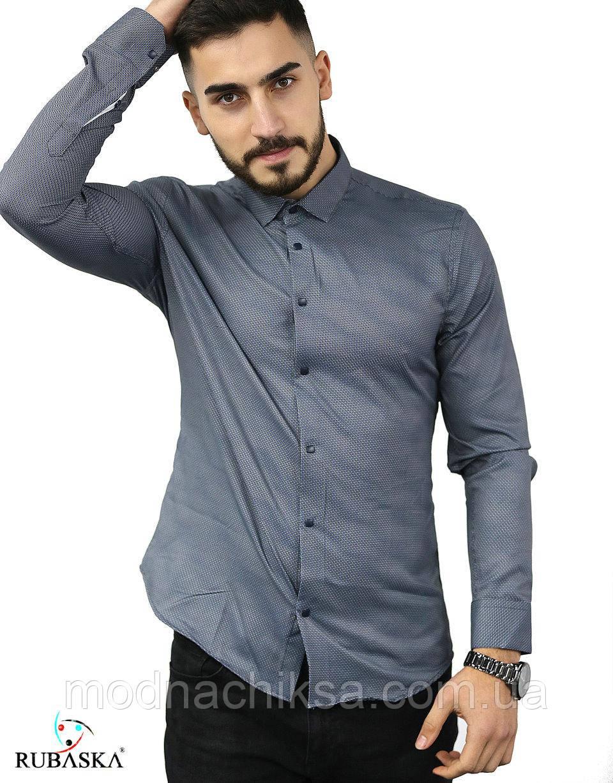 Рубашка длинный рукав с принтом S, M, L