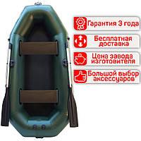 Гребний надувний двомісний човен з ПВХ Лисичанка Фортуна Ф-240Б, фото 1