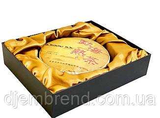Чай Пуэр в подарочной коробке + сумка. Шу Пуэр Линь Цан, 375 г.