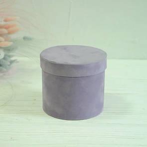 Бархатная круглая коробка d=11 h=10 см