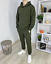 Спортивный костюм мужской в цвете хаки сезон весна осень База от бренда Тур, размеры: XS,S,M, L, XL, фото 3