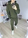 Спортивный костюм мужской в цвете хаки сезон весна осень База от бренда Тур, размеры: XS,S,M, L, XL, фото 4