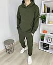 Спортивный костюм мужской в цвете хаки сезон весна осень База от бренда Тур, размеры: XS,S,M, L, XL, фото 2