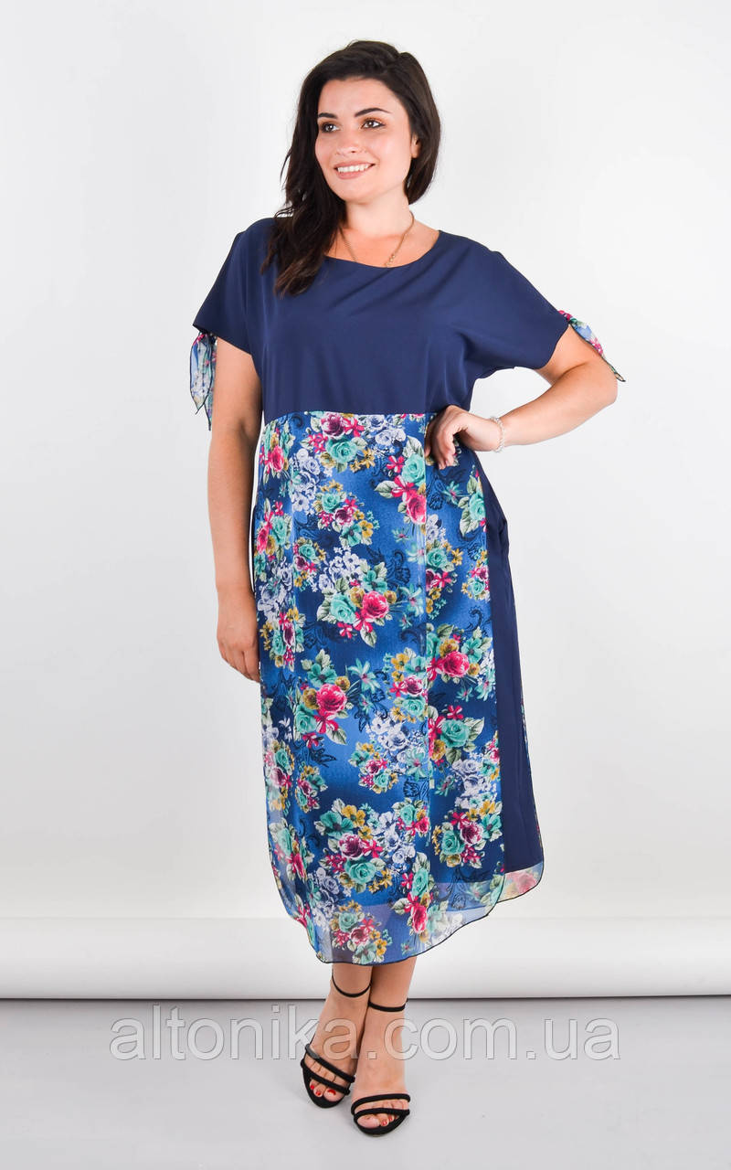 Лада. Вишукане плаття великих розмірів. Синій.