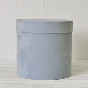 Бархатная круглая коробка  d=16 h=15 см