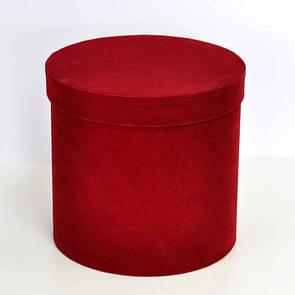 Бархатная круглая коробка d=16 h=20 см