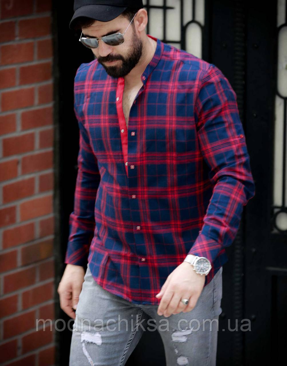 Рубашка с воротником стоука в оксфордском стиле S, M, L, XL