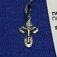Детский серебряный крестик на крестины пс-229