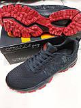 Кросівки чоловічі Stilli чорні з червоним, фото 2