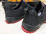 Кросівки чоловічі Stilli чорні з червоним, фото 3