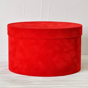 Бархатная круглая коробка d=25 h=15 см
