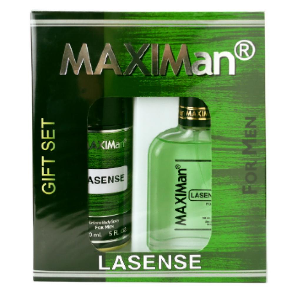 Туалетная вода мужская набор MaxiMan Lasense 100 мл + дезодорант 150 мл, Максимен