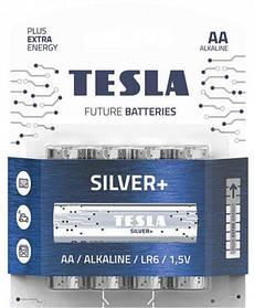 Батарейки TESLA  AA SILVER+ (LR06), 4 штуки [bat141611-TSI]