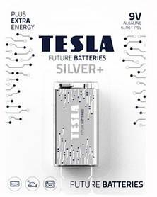 Батарейки TESLA 9V SILVER+ (6LR61), 1 штука [bat141613-TSI]