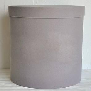 Бархатная круглая коробка d=31 h=30 см
