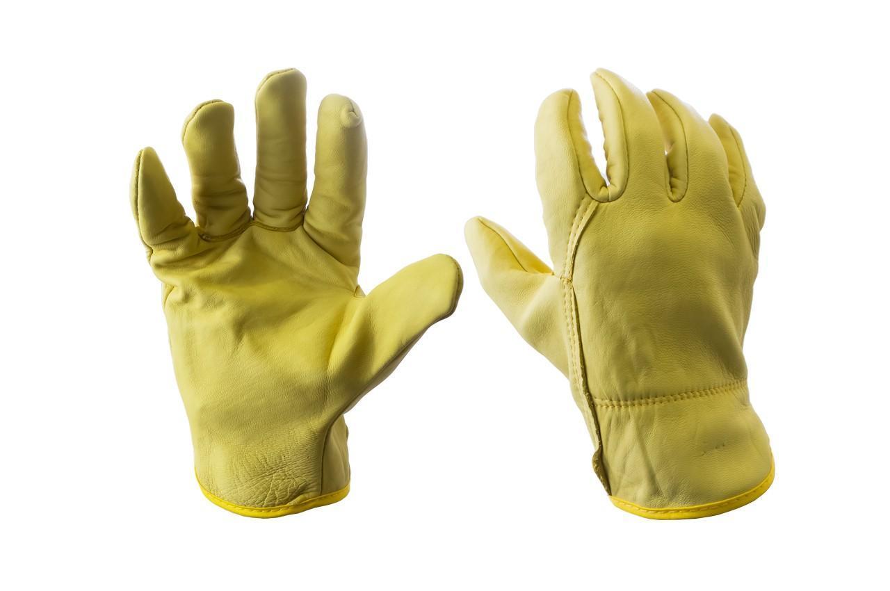 """Перчатки кожаные PRC - 10"""" кожаная желтая"""