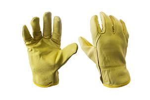 """Перчатки кожаные PRC - 10"""" кожаная желтая, фото 2"""