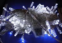 Белая нарядная гирлянда Нить, возможность выбрать программу свечения, 400 диодных лампочек