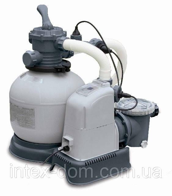 Песочный фильтрующий насос+хлорогенератор Intex Sand Filter Pump 56678 киев