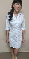 Жіночий медичний халат Хлястик коттон три чверті рукав