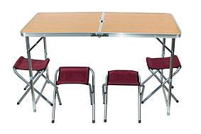 Стол раскладной для пикника с 4 стульями, чемодан D&T