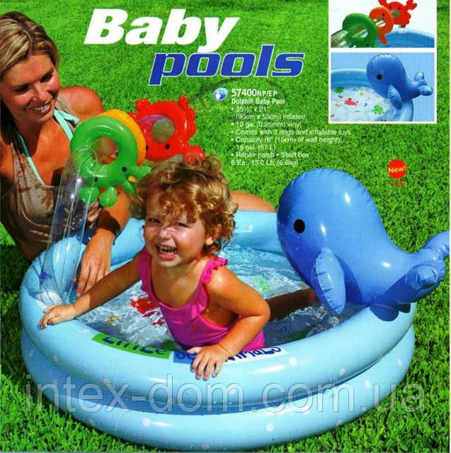 Надувной бассейн дельфинчик intex 57400