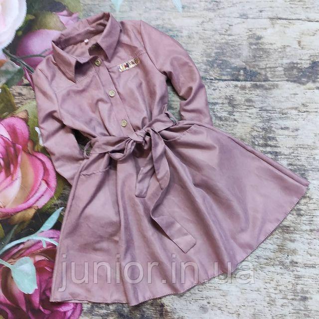 Сукня з микровельвета для дівчинки (140р)