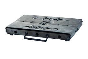 Мангал-чемодан на 10 шампуров (холоднокатанный)  x 1,5 мм