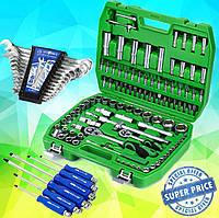 Три Набора инструментов за 1340 грн (108 ед. ET-6108SP + набор ключей 12 ед. + Набор ударных отверток 6 шт)