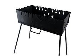 Мангал-чемодан на 10 шампуров x 2 мм