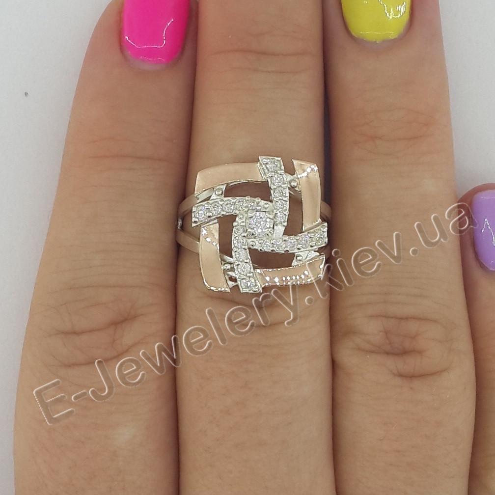 """Серебряное кольцо с золотом """"238"""""""