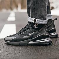 Мужские кроссовки Nike Air Max 270 All Black найк аир макс 270 реплика